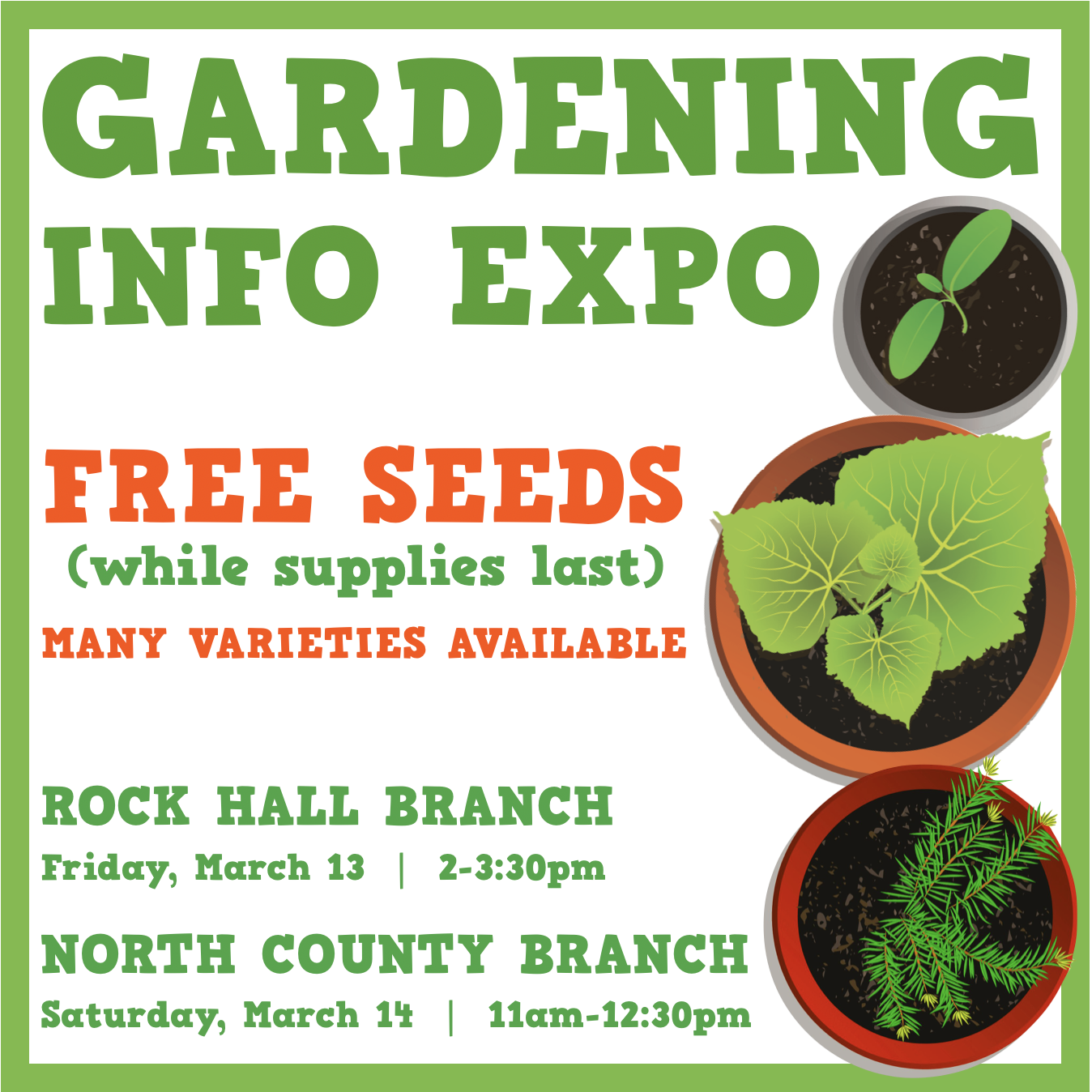 Gardening Info Expo and Seed Giveaway