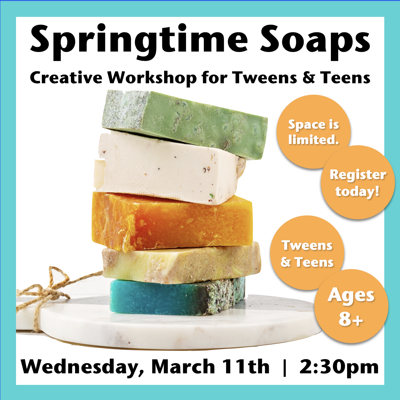Springtime Soaps for Tweens and Teens