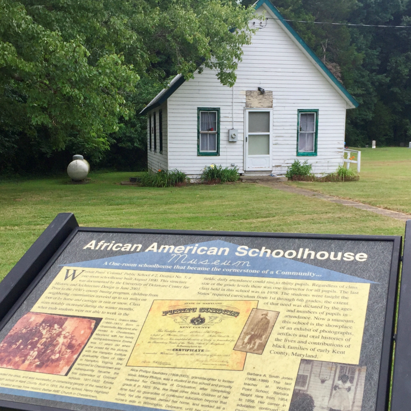 African American Schoolhouse Interpretative Panel